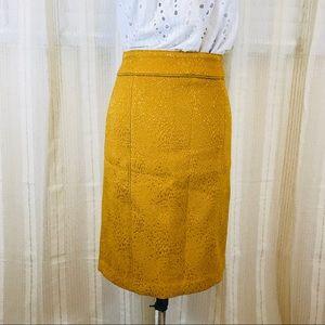 Banana Republic Mustard Yellow High Waist Skirt